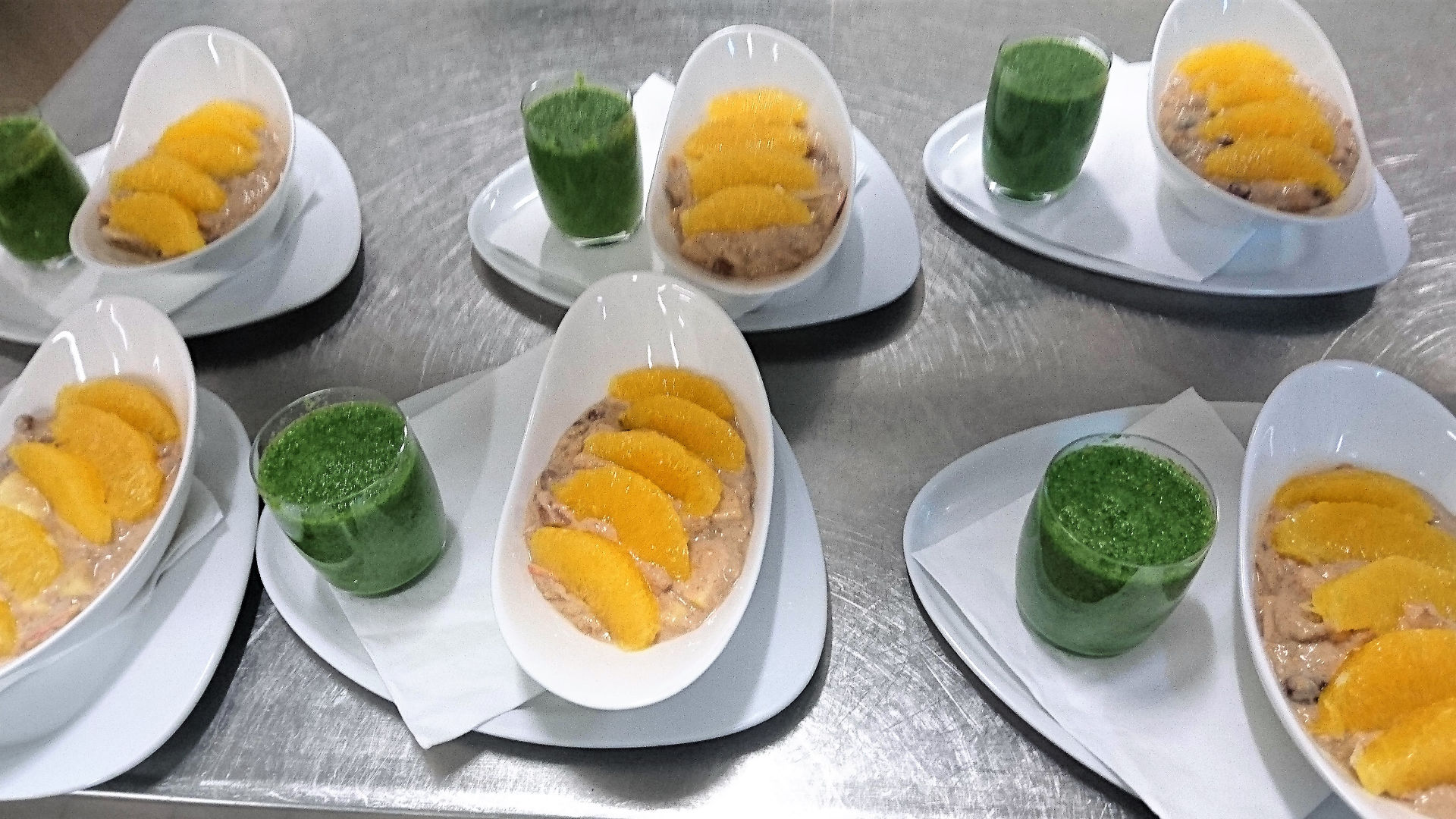 Basisches Orangenmüsli mit Smoothie