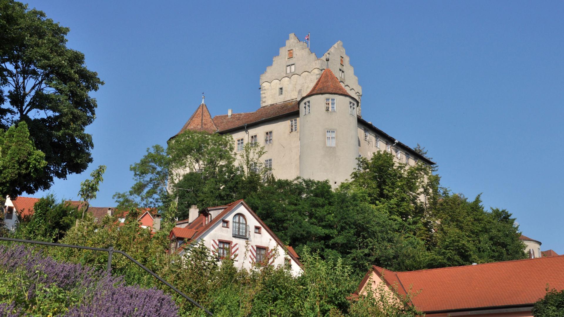 Blick auf die Meersburg am Bodensee