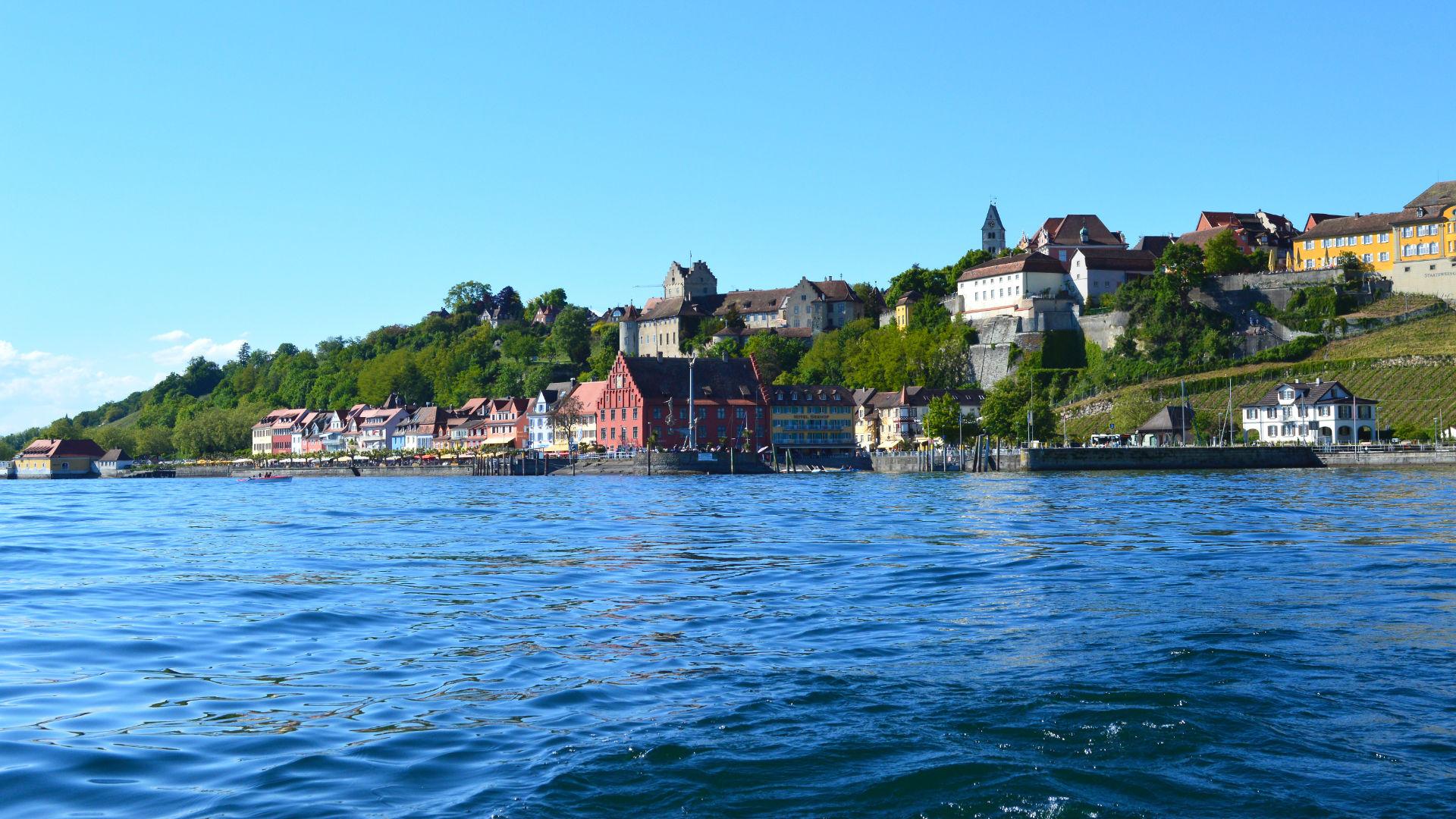 Blick auf Meersburg vom Bodensee