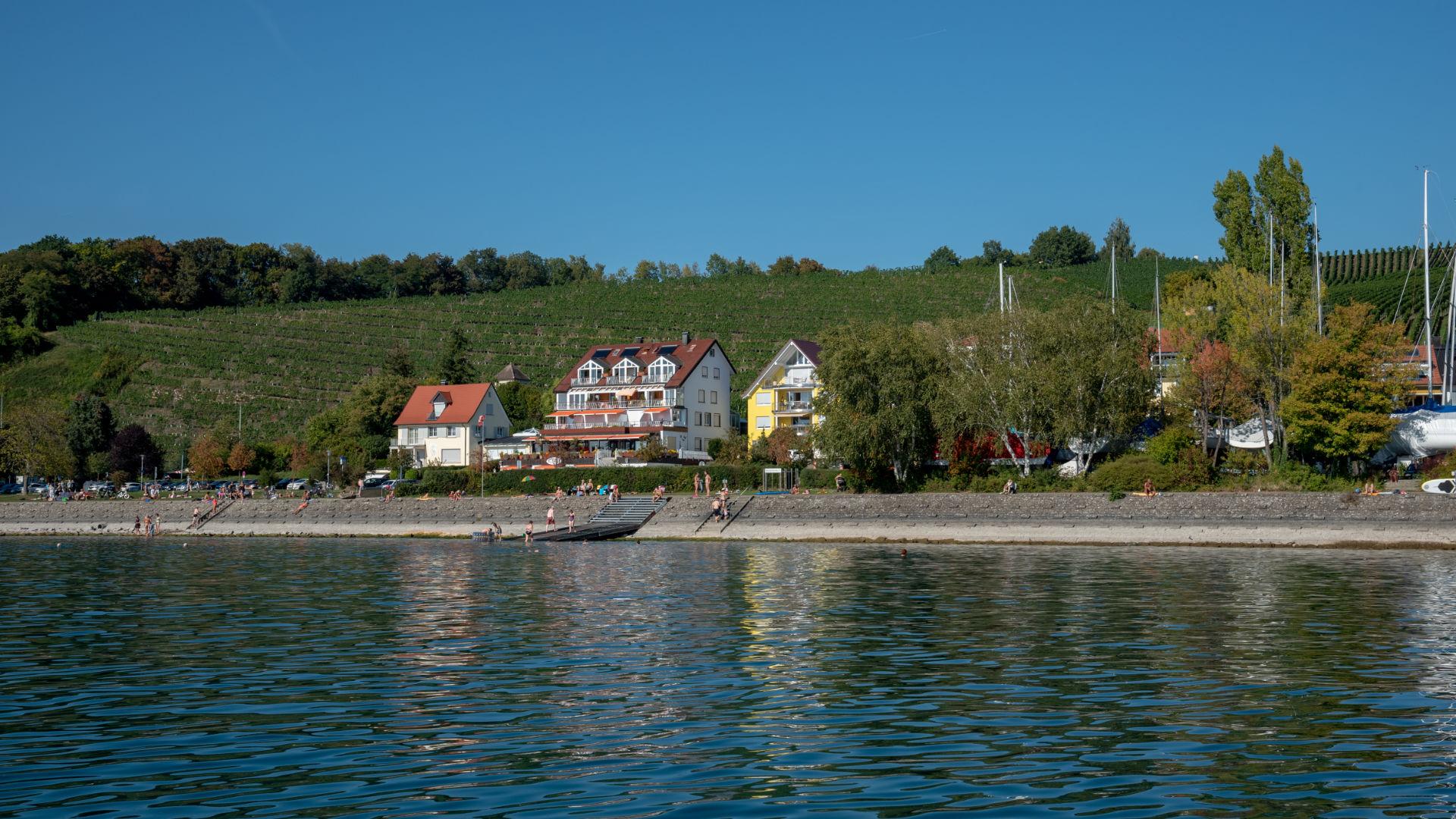 Blick auf See Hotel vom Bodensee
