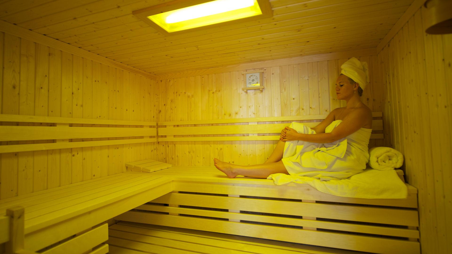 Erholung in der Sauna