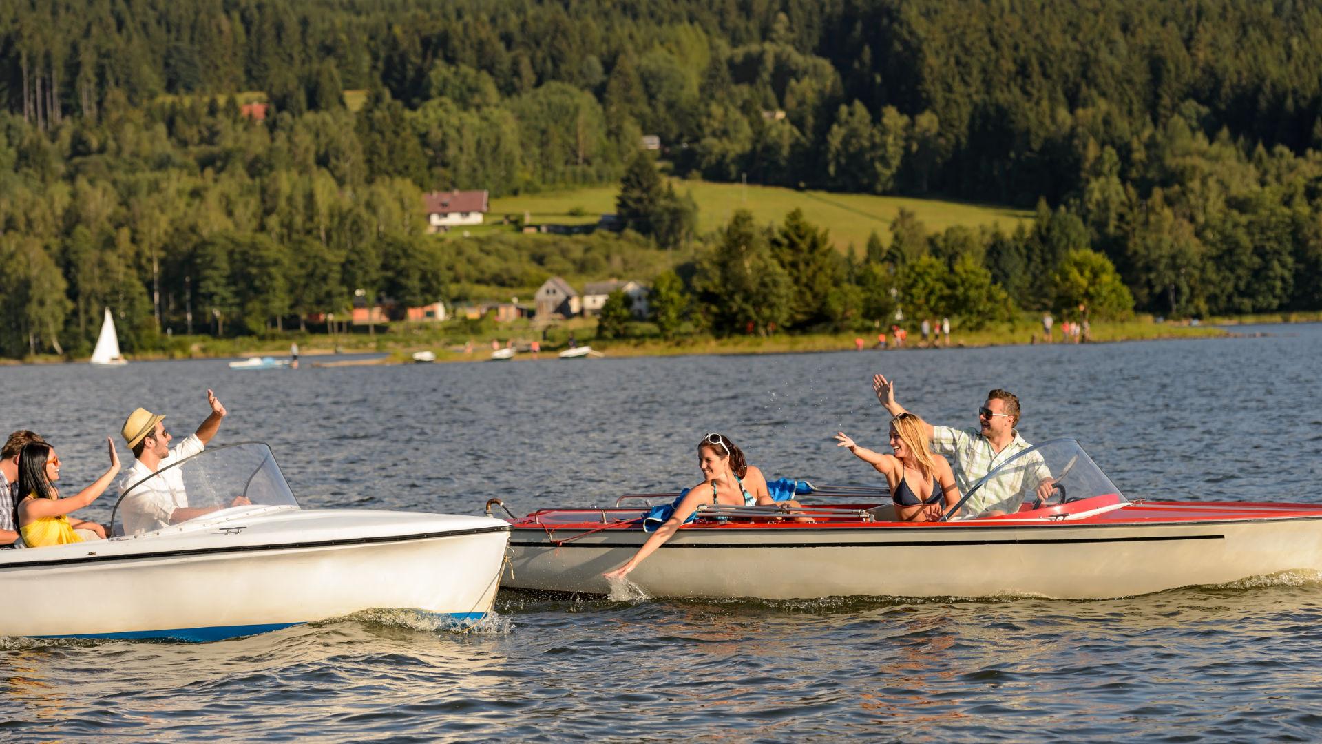 Spaß auf der Bootstour am Bodensee